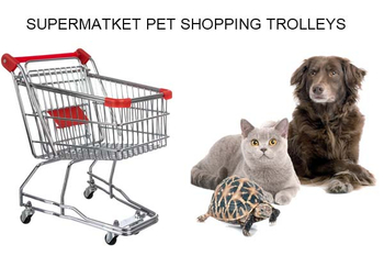 Supermarket pet shopping trolley will be a new business opportunity