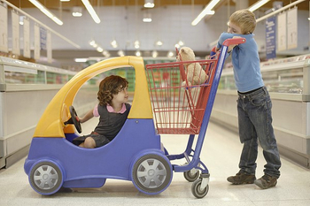 Kids' Joy of Grocery Shopping